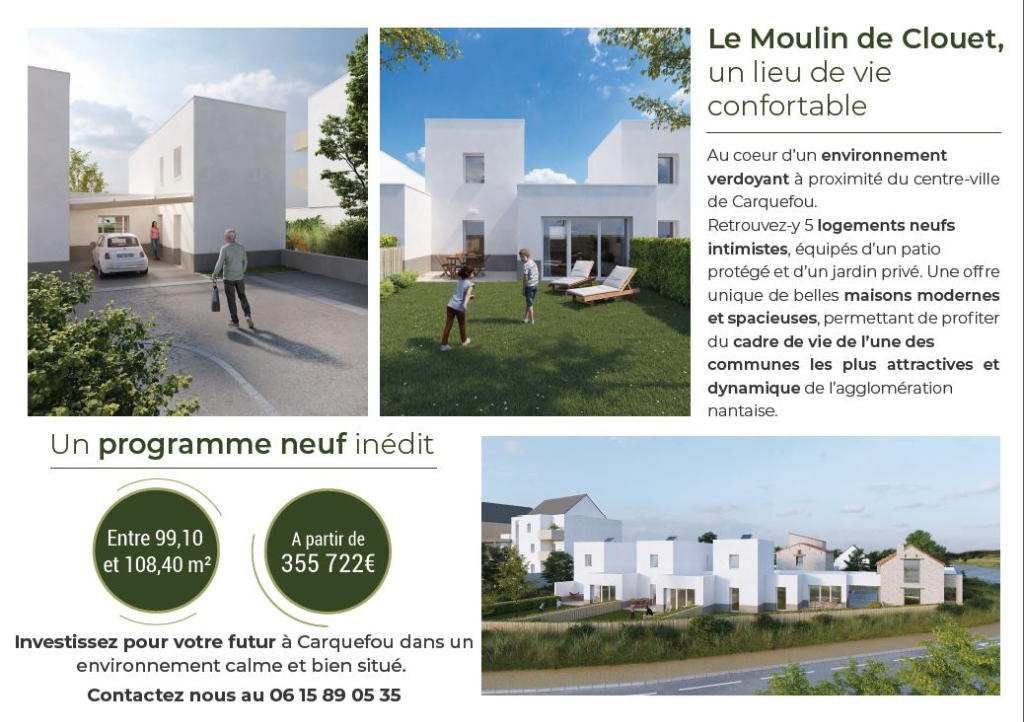 CARQUEFOU - LE MOULIN DE CLOUET - MAISON LOT 3 2/3